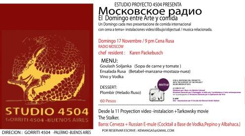 ESPACIO 4504- Cena Rusa -DOM